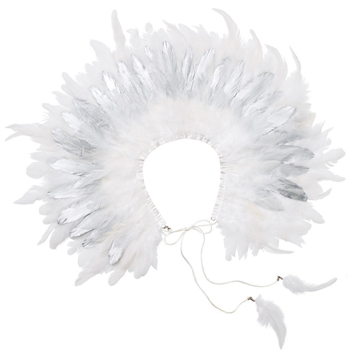 Feather Collar (silver/white)
