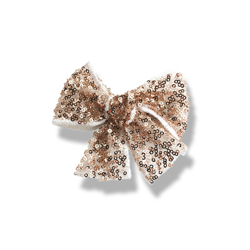 Sequins Ribbon Clip (champagne)