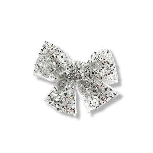Sequins Ribbon Clip (silver)