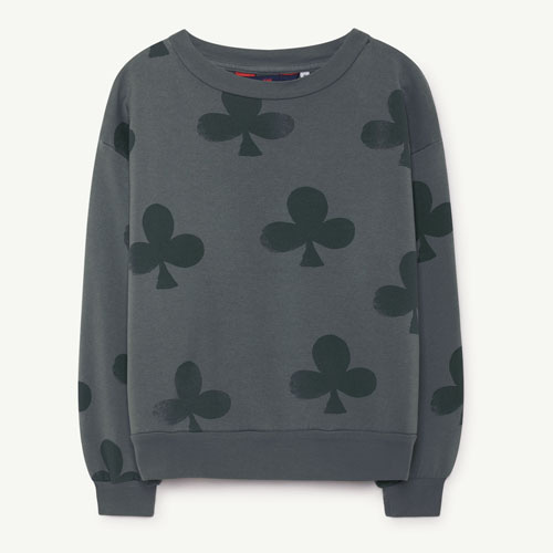 Bear Sweatshirt (grey clovers)