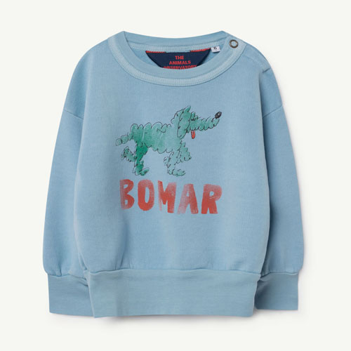 [12m]Bear Baby Sweatshirt (blue green bomar)