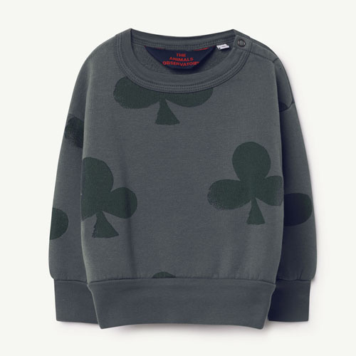 Bear Baby Sweatshirt (grey clovers)