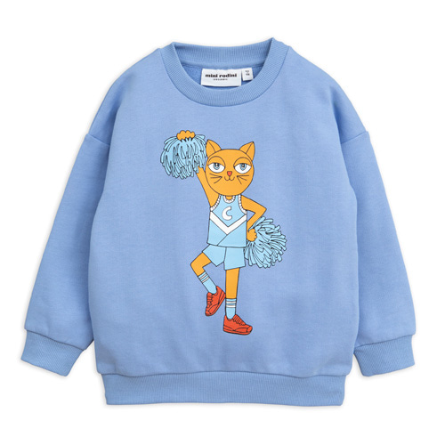 [140/146cm]Cheercat Sweatshirt (blue)