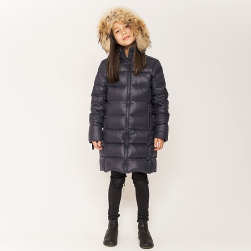 Featherlight Girl Coat #438 Black