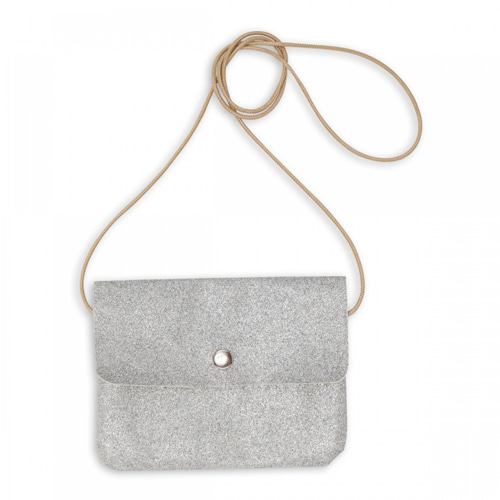 Bonton Mini Glitter Bag (silver)