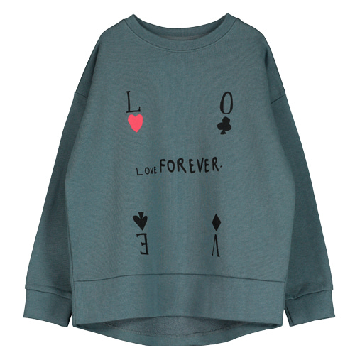 Ralaxed Sweatshirt (love forever charcoal)