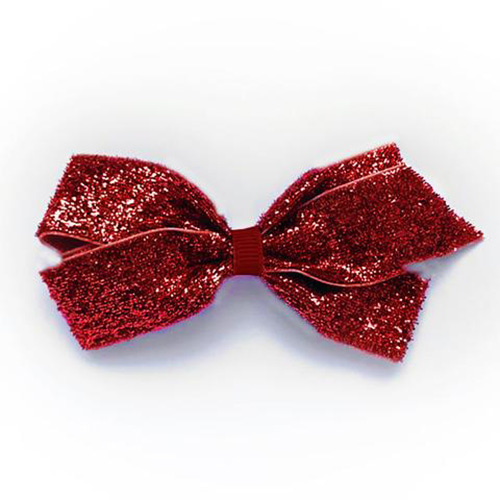 Medium Glitter Clip (scarlet)