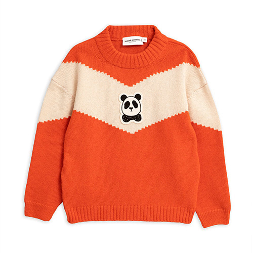 Panda Wool Sweater (red)