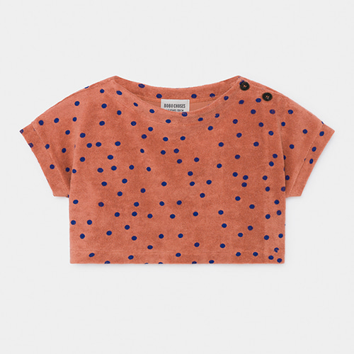 Crop Terry Sweatshirt Dots #34