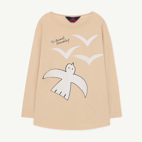 [4/10/12y]Deer Tshirt 1136_026 (brown birds)