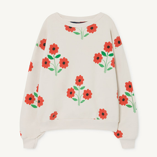 [limited]Bear Sweatshirt 1139_009 (red flower)