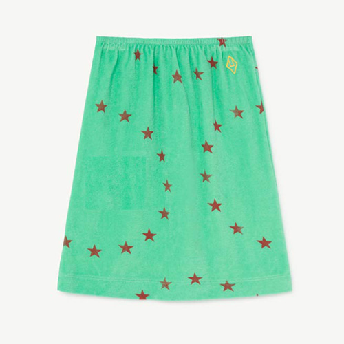 Kitten Skirt 1149_196 (green star)