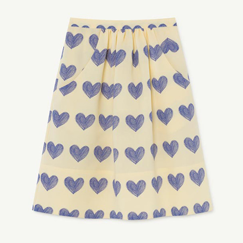 [4/10y]Sow Skirt 1196_099 (yellow hearts)