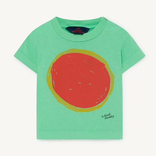 Rooster Baby Tshirt 1126_196 (green sun)