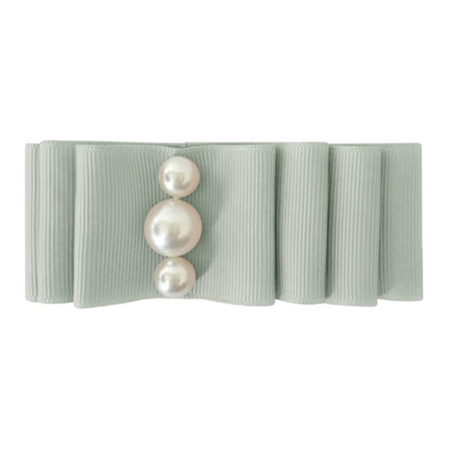 Pearl Layered Bow Light Silver