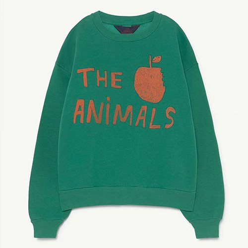 [12y]Bear Sweatshirt 1297_206 (green animals)