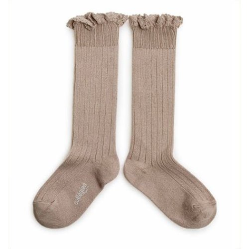 Lace High Socks #226 Petite Taupe