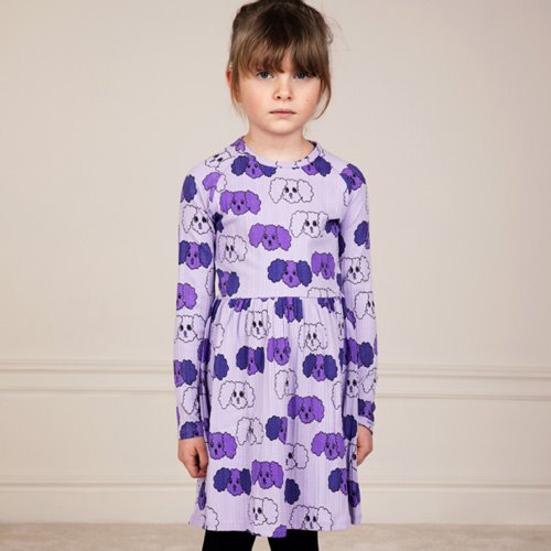 Fluffy Dog Dress (purple)