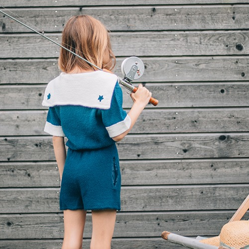 Sailor Playsuit Navy