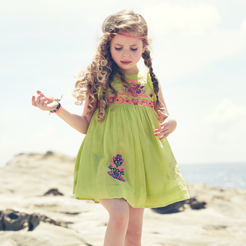 Surprise! Alexa Dress (lime punch) 2y