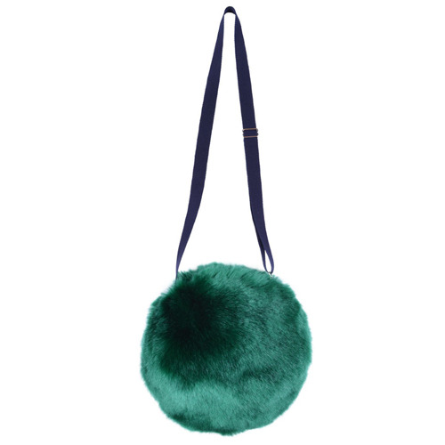 Faux Fur Pompom Bag