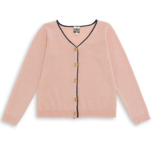 Thin Cardigan (rose coquillage)
