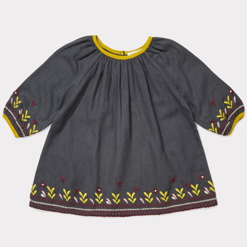 Lydford Baby Dress (dark slate)