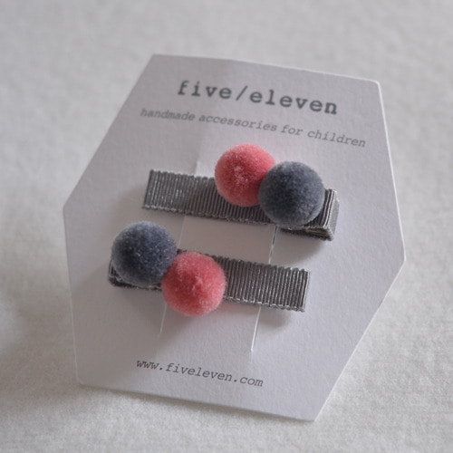 Double Pom Clip (pink mouse)