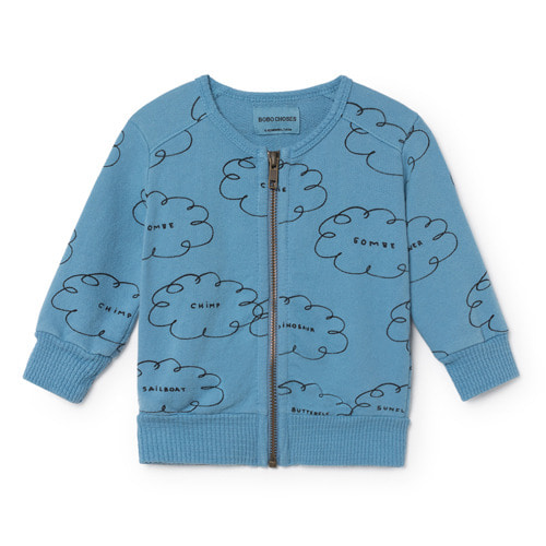 Baby Zipped Sweatshirt Clouds #167