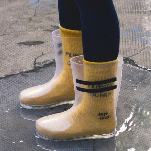 Rain Boots Black Stripe #328