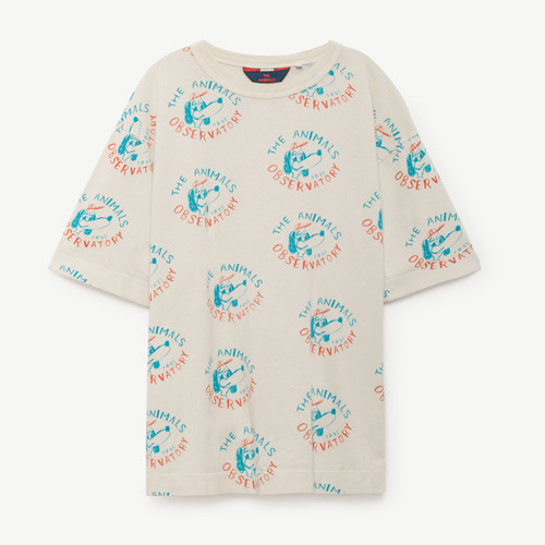 Rooster Oversize Tshirt (raw white dog)