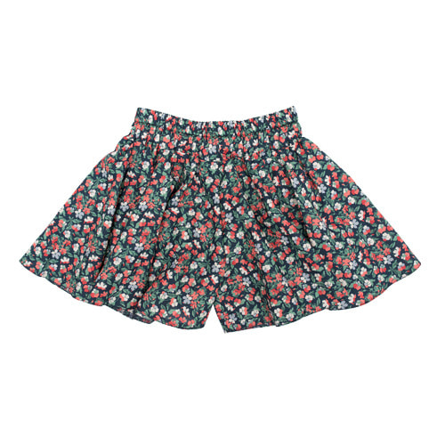 Liberty Skort Red Pansies