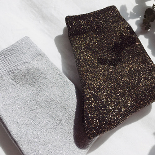 Glitter Socks (silver/gold)