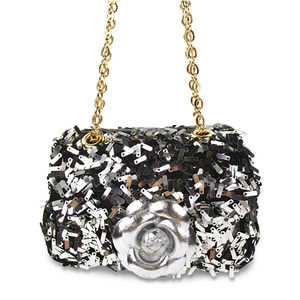 Ava Sequins Flower Bag (silver)