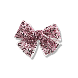 Sequins Ribbon Clip (rose pink)