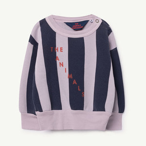 Bear Baby Sweatshirt (Purple navy Stripes)