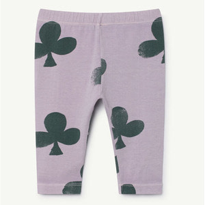 Penguin Baby Leggings (purple clovers)