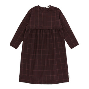 [2/4y]Grid Flannel Dress