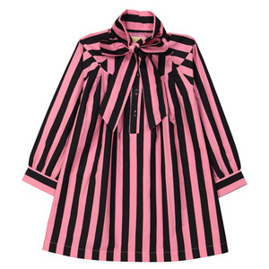 [2y]Bow Dress (stripes)