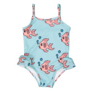 [10y]Swimsuit (blue fish)