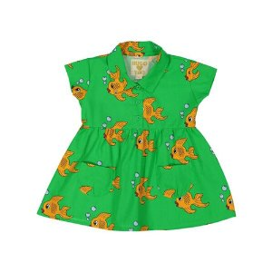 Pocket Dress (green fish)