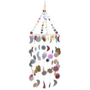 Metallic Moon And Stars Chandelier