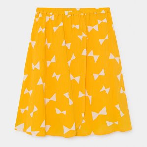 Wrap Midi Skirt Bow #136