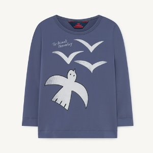 Deer Swim Tshirt 1271_064 (blue birds)
