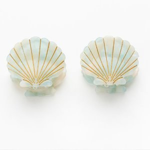 Ursula Shell Clip Mint (2 in set)