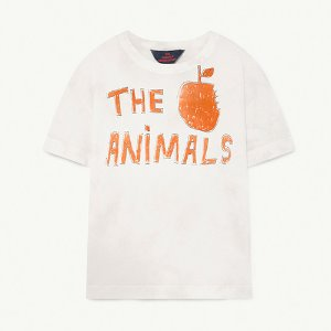 [12/14y]Rooster Tshirt 1286_108 (white the animals)