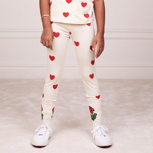 Heart Leggings Tencel (white)