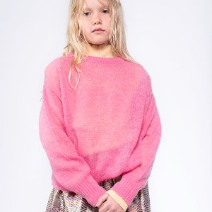 Knit Boxy Sweater (glory pink)