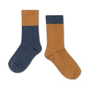 Socks (navy golden)