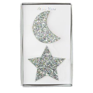 Moon+Star Hair Slides